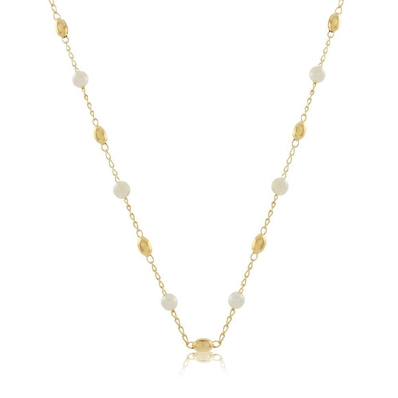 46033 18K Gold Layered 45Necklace 45cm/18in