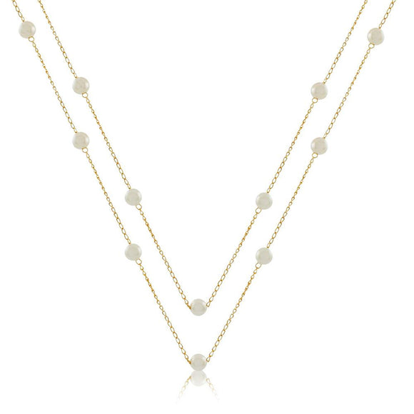 46041 18K Gold Layered Necklace 120cm/48in