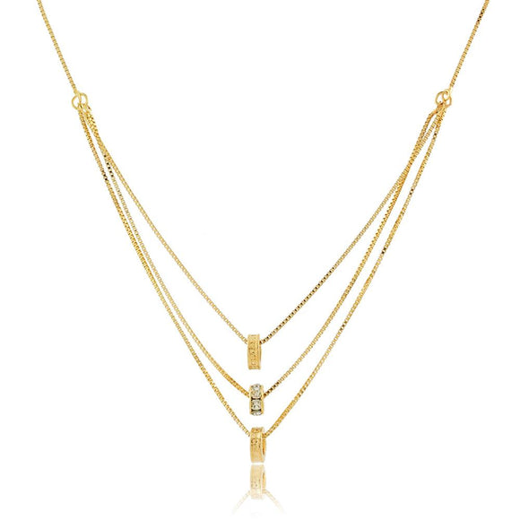 46044 18K Gold Layered Necklace 45cm/18in