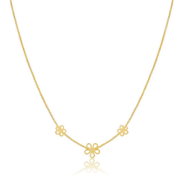 46046 18K Gold Layered Necklace 35cm/14in