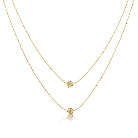 46049 18K Gold Layered Necklace 45cm/18in