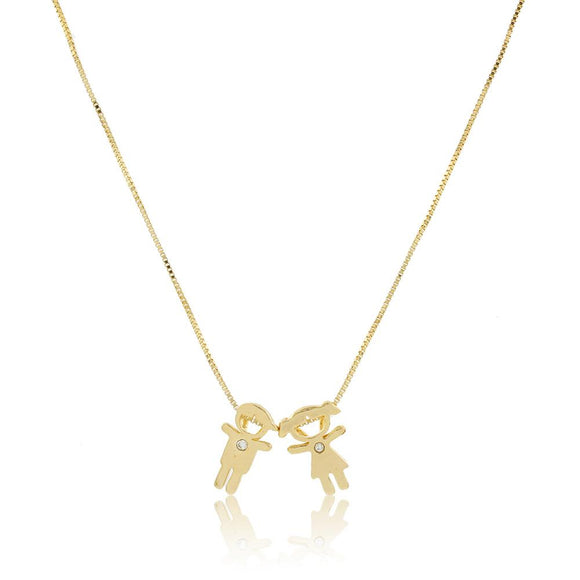 46075 18K Gold Layered Necklace 45cm/18in
