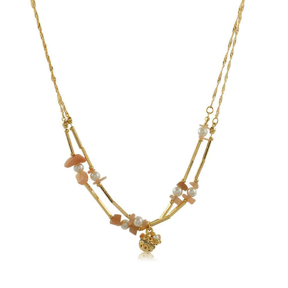 46084 18K Gold Layered Necklace 50cm/20in