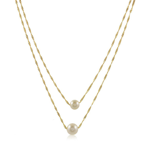 46085 18K Gold Layered Necklace 50cm/20in