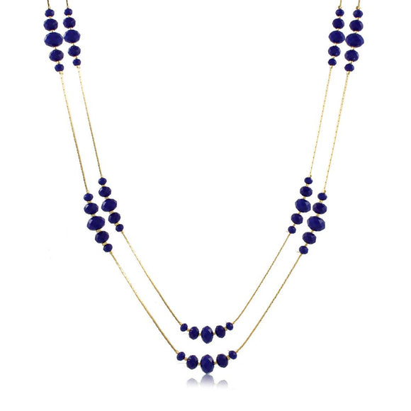 46087 18K Gold Layered Necklace 80cm/32in