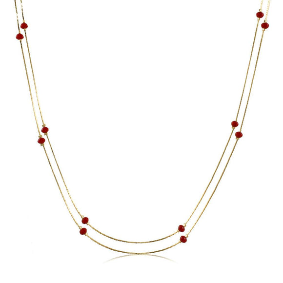46090 18K Gold Layered Necklace 120cm/48in