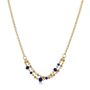 46095 18K Gold Layered Necklace 55cm/22in