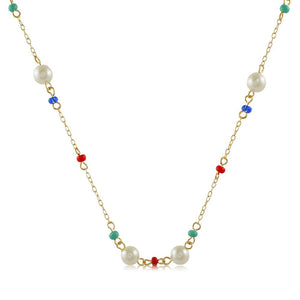 46111 18K Gold Layered Necklace 40cm/16in