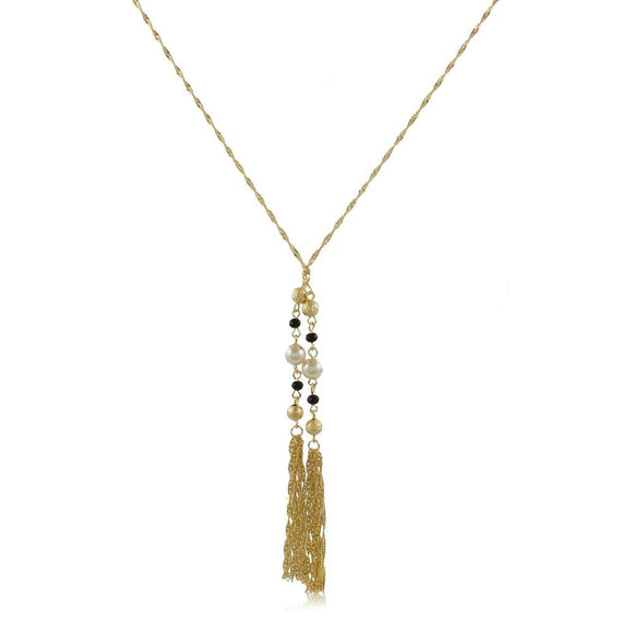 46117 18K Gold Layered Tie Necklace 85cm/34in