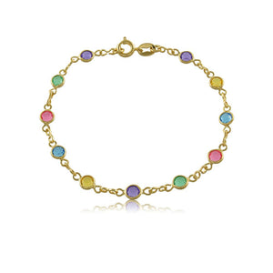 51451 18K Gold Layered -Bracelet 18cm/7in