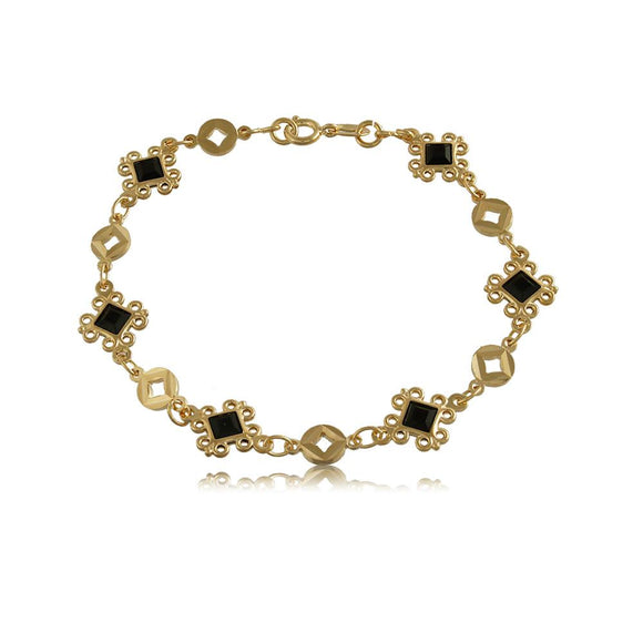 51511 18K Gold Layered -Bracelet 18cm/7in