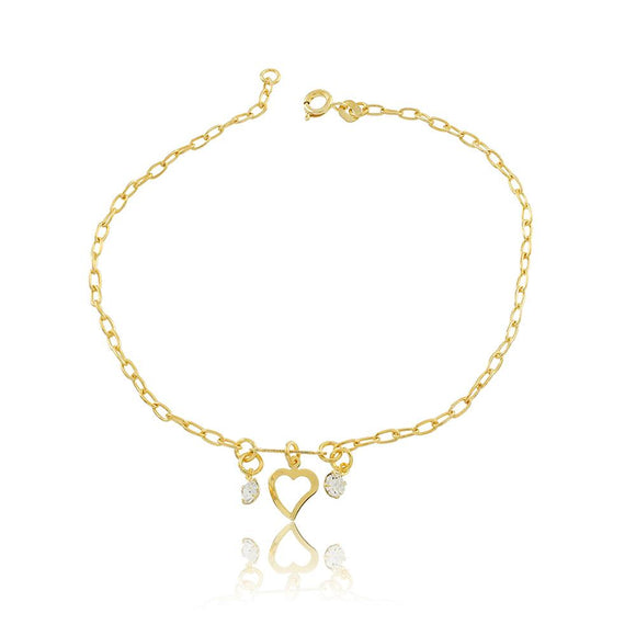 58002 18K Gold Layered Anklet 25cm/10in