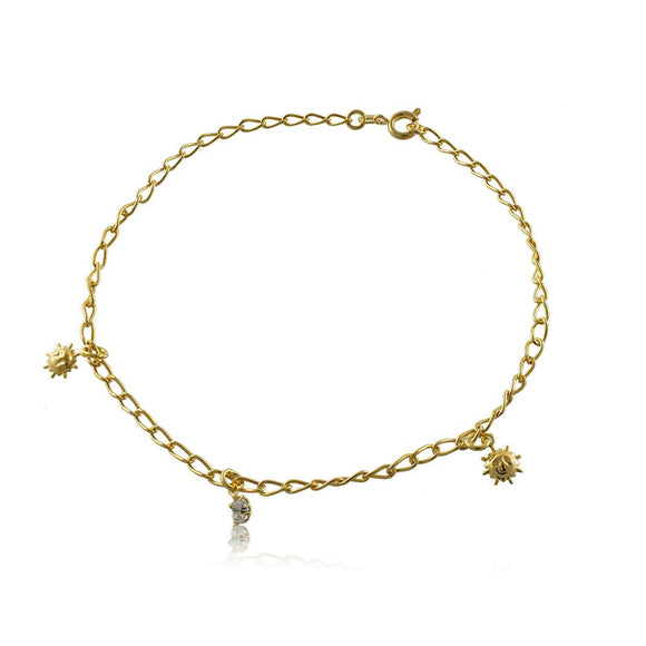 58004 18K Gold Layered Anklet 25cm/10in
