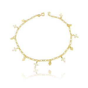 58006 18K Gold Layered Anklet 25cm/10in