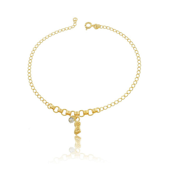 58007 18K Gold Layered Anklet 25cm/10in