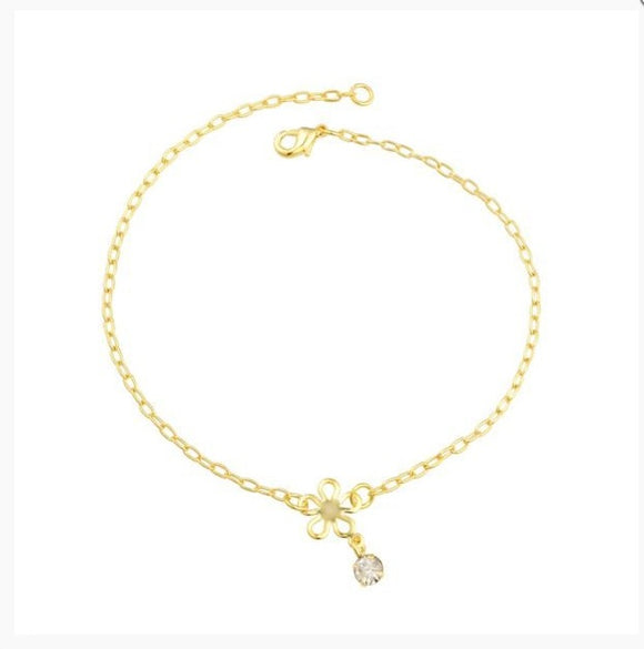 58010 18K Gold Layered Anklet