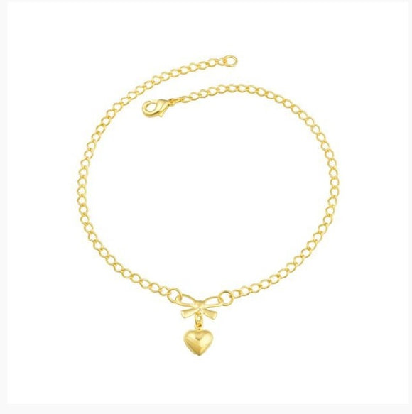 58011 18K Gold Layered Anklet