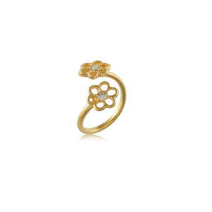 66049 18K Gold Layered Knucke Ring Adjustable