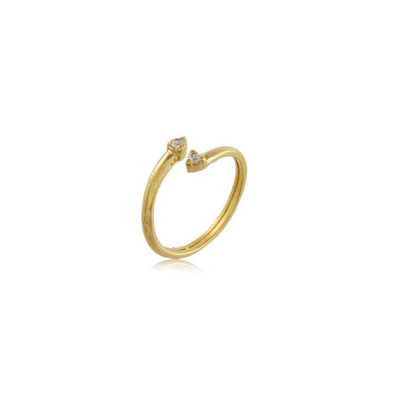 66050 18K Gold Layered Knuckle Ring Adjustable