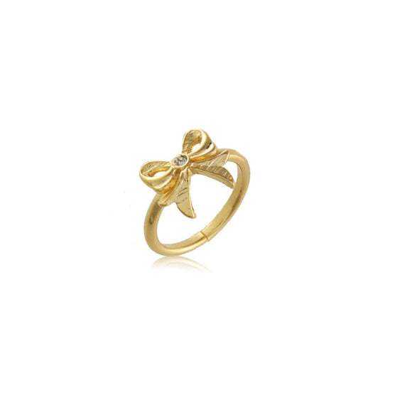 66058 18K Gold Layered Knuckle Ring Adjustable