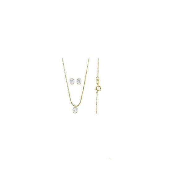 71571 18K Gold Layered CZ Set
