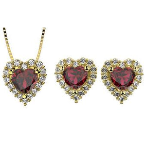 71729 18K Gold Layered CZ Set