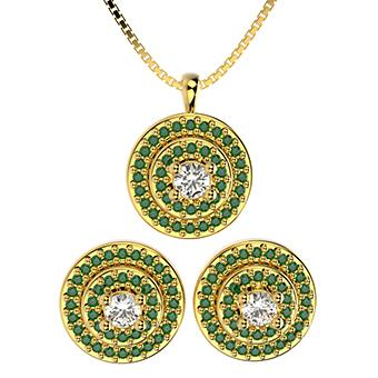 71759 18K Gold Layered CZ Set