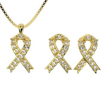 71771 18K Gold Layered CZ Set