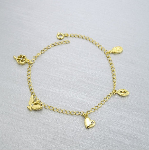 86007 18K Gold Layered Bracelet