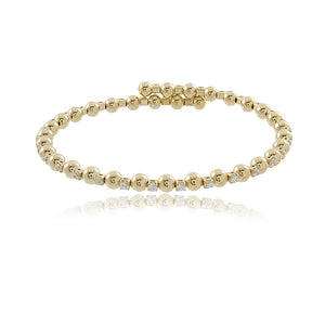 86023 18K Gold Layered Bracelet 20cm/8in