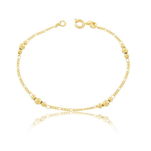 86031 18K Gold Layered Bracelet 18cm/7in