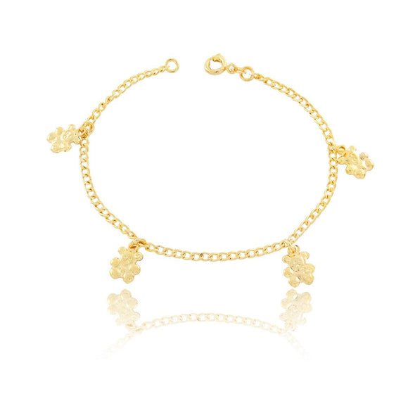 86033 18K Gold Layered Bracelet 18cm/7in