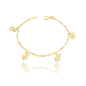 86034 18K Gold Layered Bracelet 18cm/7in