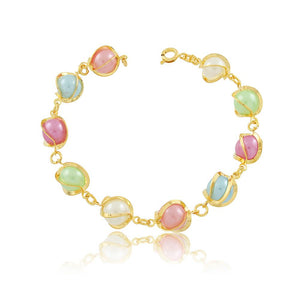 86038 18K Gold Layered Bracelet 18cm/7in