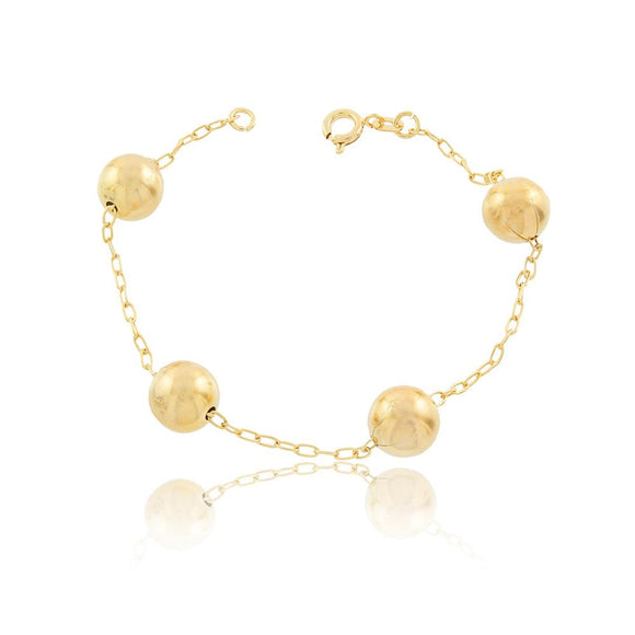86040 18K Gold Layered Bracelet 18cm/7in