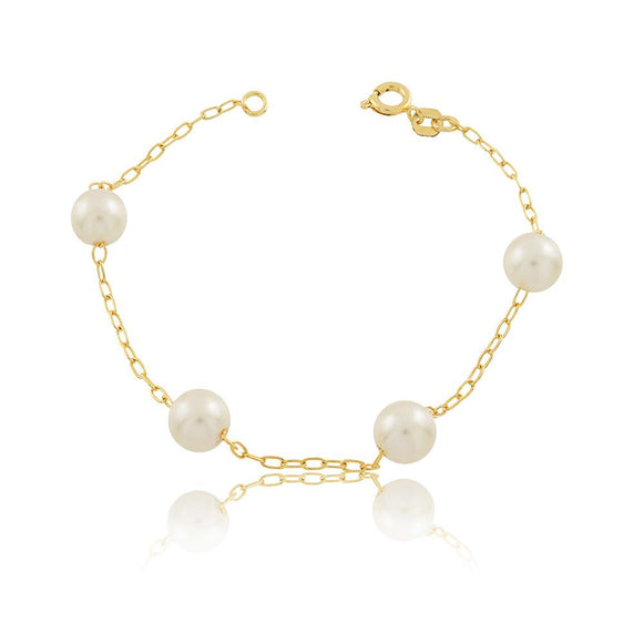 86041 18K Gold Layered Bracelet 18cm/7in