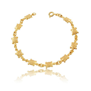 86042 18K Gold Layered Bracelet 18cm/7in