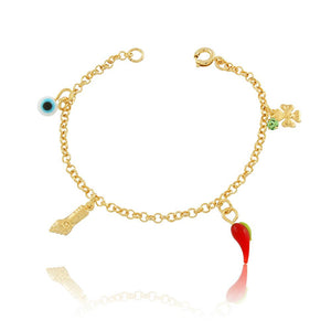 86047 18K Gold Layered Bracelet 14cm/5.6in