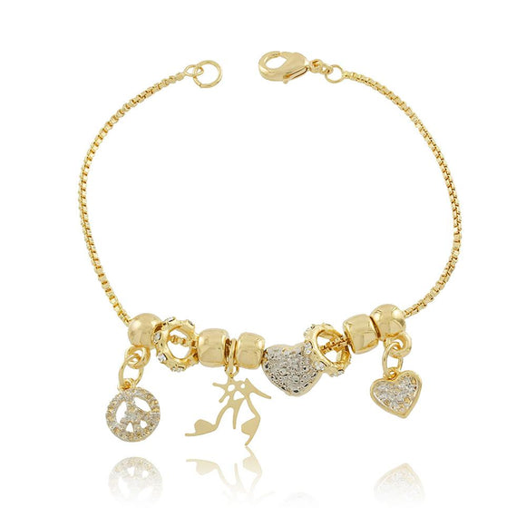 86056 18K Gold Layered Bracelet 16cm/6.4in