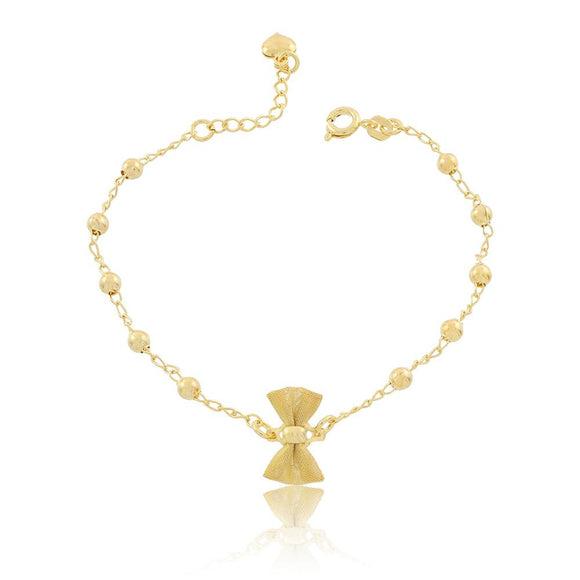 86063 18K Gold Layered Bracelet 18cm/7in