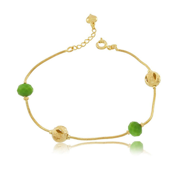 86065 18K Gold Layered Bracelet 18cm/7in