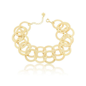 86070 18K Gold Layered Bracelet 18cm/7in