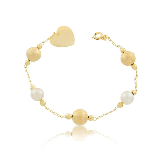 86072 18K Gold Layered Bracelet 18cm/7in