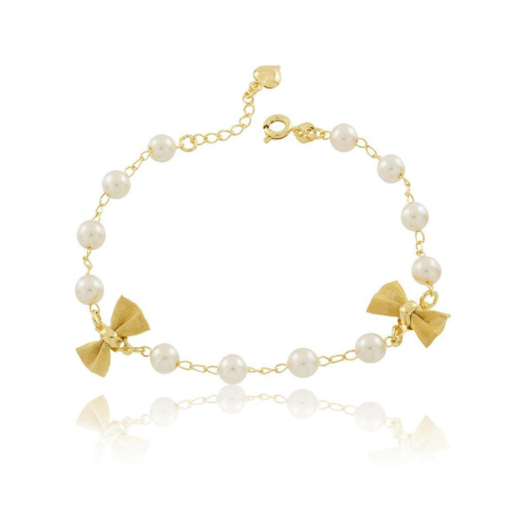 86076 18K Gold Layered Bracelet 18cm/7in