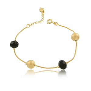 86077 18K Gold Layered Bracelet 18cm/7in