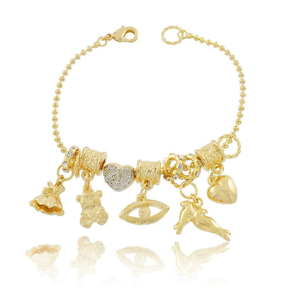 86085 18K Gold Layered Bracelet 18cm/7in