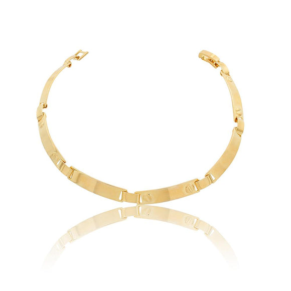 86089 18K Gold Layered Bracelet 22cm/9in