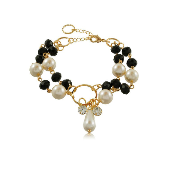 86097 18K Gold Layered Bracelet 18cm/7in