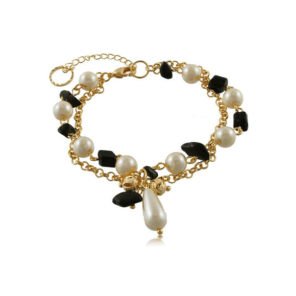 86098 18K Gold Layered Bracelet 18cm/7in