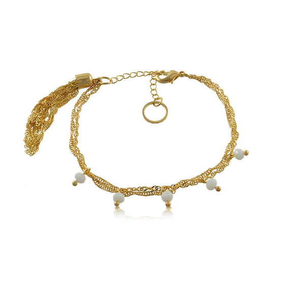 86111 18K Gold Layered Bracelet 18cm/7in
